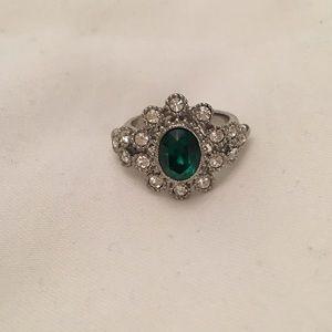 Banana Republic Emerald colored  cocktail ring
